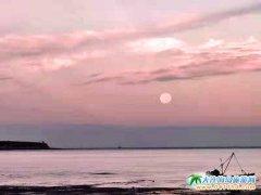 海岛过中秋,石城岛月圆夜美丽瞬间
