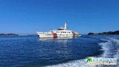 大连海警局在长海海域内开展海底电缆管护巡航工作!